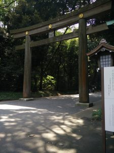 The torii gate at the Yoyogi entrance of Meiji-jingu. Was lucky to go on a quiet day with not so many tourists.