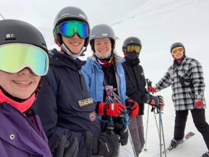 The five of us ready to ski together