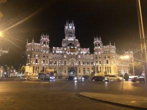 El Ayuntamiento de Madrid por la noche