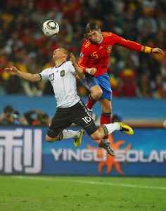 The clash between Spanish and German!
