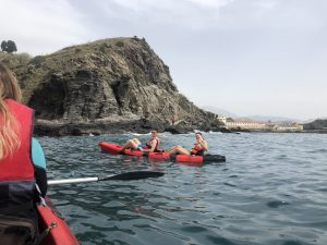 Having fun kayaking!