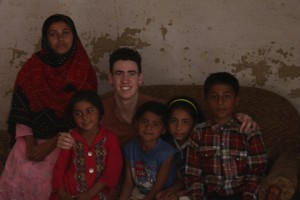 This is a photograph of myself with a lovely Pakistani family I befriended.