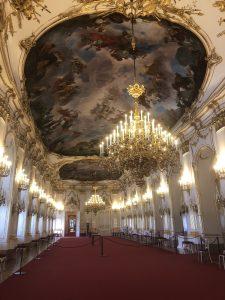 The ballroom area at Schönbrunn Palace