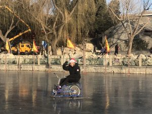 Riding on ice