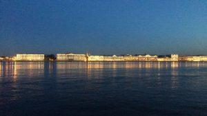 A beautiful Petersburg skyline
