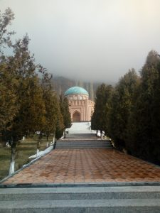 """Tomb of Rudaki, the """"father of Persian literature"""", in Panjakent - Мақбараи Рӯдакӣ, """"падари адабиёти тоҷикӣ, дар Панҷакент"""