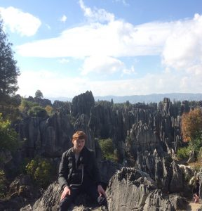 Me standing in front of one of many parts of the Stone Forest