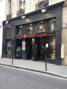 One of the many vintage kilo shops in Paris.
