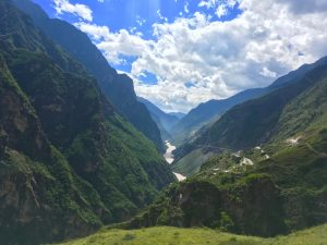 The view out of Tiger Leaping Gorge