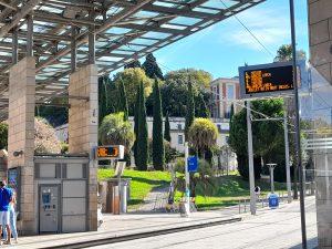 Un arrêt de tramway de Montpellier