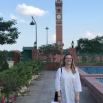 Outside the Hussainabad Clock Tower