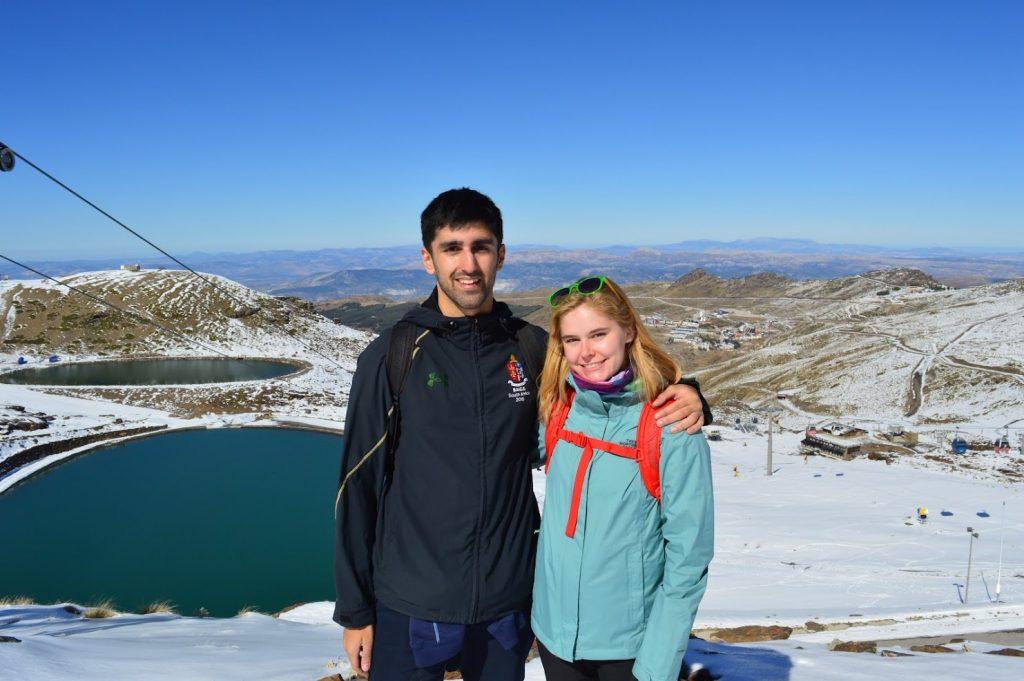 Anya and I scaling the Sierra Nevada