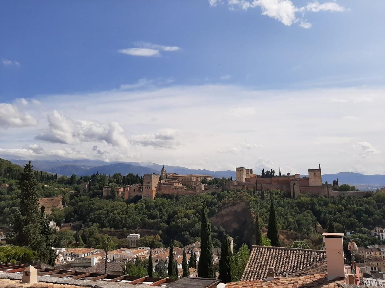 View of the Alhmabra from the Mirador de San Nicolás.
