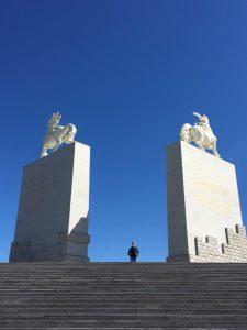 Huge statues at Genghis Khan Mausoleum