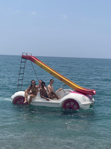 Us and our pedalo!
