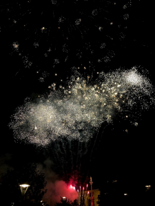 Fireworks to end the festival