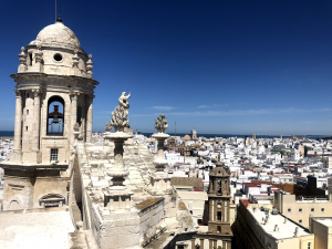 View of Cádiz from the cathedral tower!