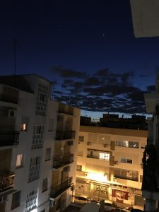 View from my flat in Santa Justa