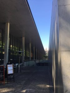 A building on the Hongo campus of the University of Tokyo designed by Tadao Ando.